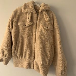 Forever 21 Teddy Coat Size Small